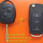 ford fiesta anahtarı sustalı