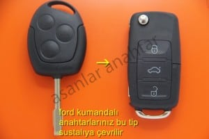 ford fusion yedek anahtar