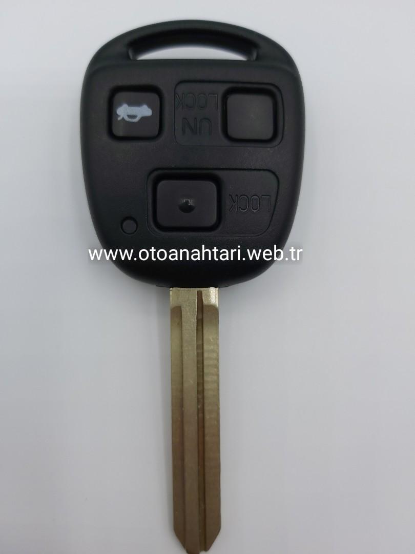 Toyota Anahtarı toyota kumanda kabı Toyota Kumanda Kabı toyota corolla auris yaris land cruzer prado anahtar